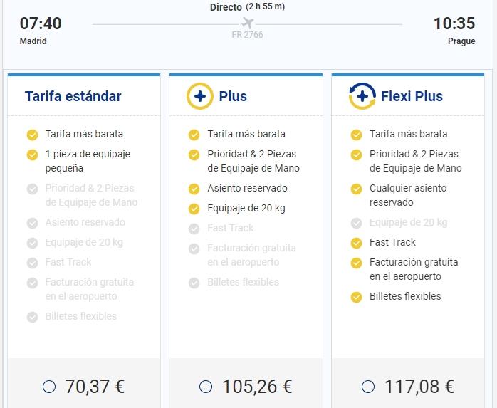 Tarifa Plus de Ryanair. Equipaje de mano de Ryanair: nuevos precios y medidas.