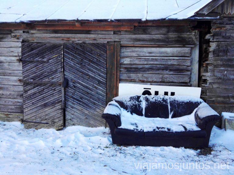 Invierno en Estonia. Noreste de Estonia. Población ruso-parlante.