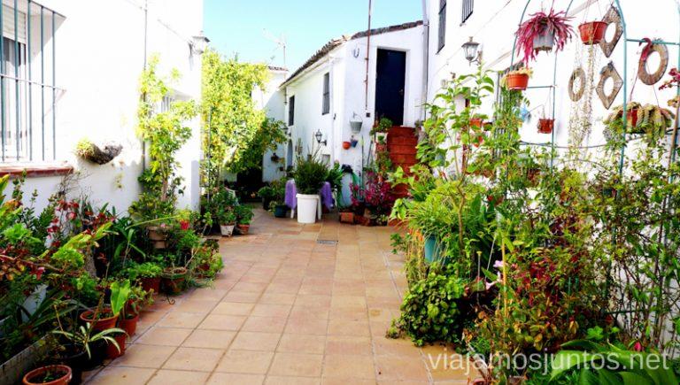 El patio de Jamones Eíriz. Jamones Eíriz. Aracena. Ruta del jamón ibérico Jabugo