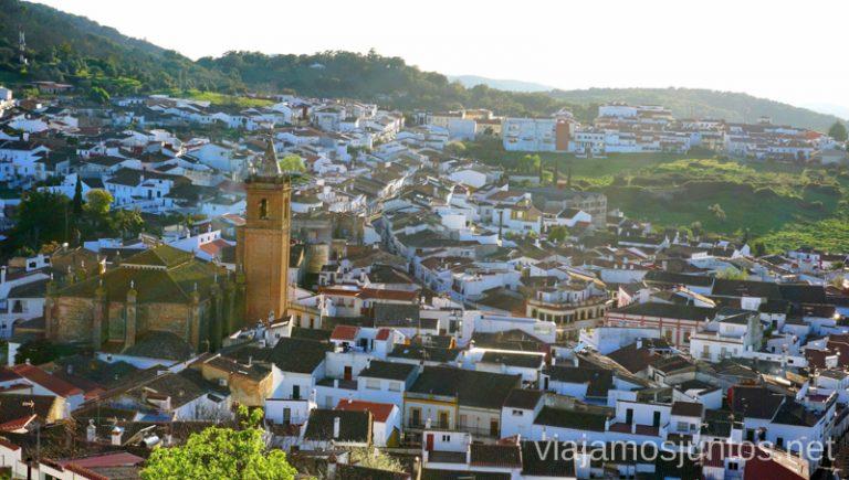 Vistas sobre Cortegana desde su castillo. Qué ver y hacer en Aracena Provincia de Huelva Andalucía España
