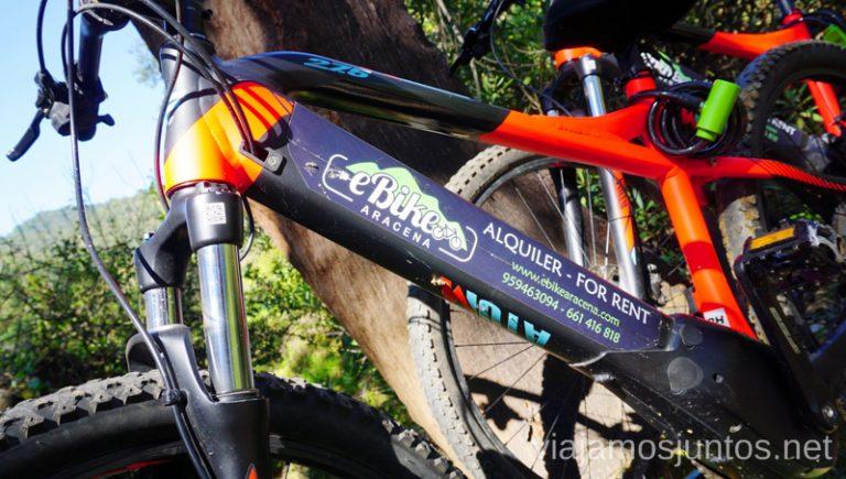 Bicis de eBike Aracena, Ruta por las dehesas y pueblos de la Sierra de Aracena en bici eléctrica de montaña eBike Aracena