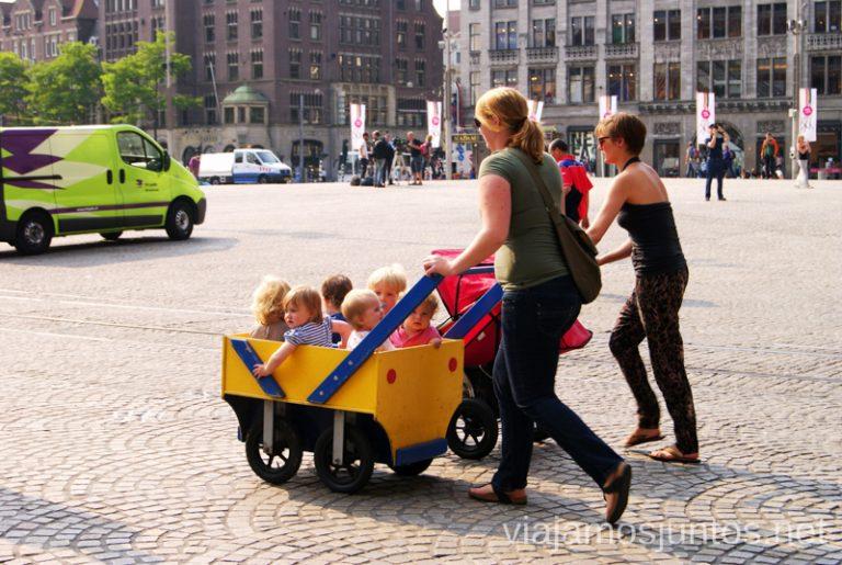 Transporte típico en Amsterdam. Cómo ser Viajero Responsable Guía de los viajeros responsables para principiantes