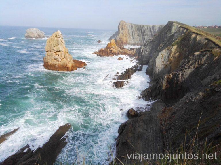 Senda por la Costa Quebrada desde la Playa de Portio. Qué ver y hacer en Costa Quebrada Cantabria Spain