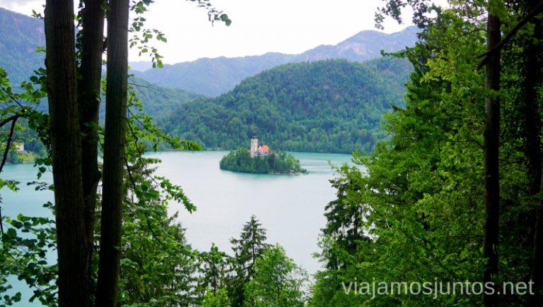 Vistas al lago Bled. Qué ver y hacer en Eslovenia Campervan en Eslovenia Lago Bled #EsloveniaJuntos