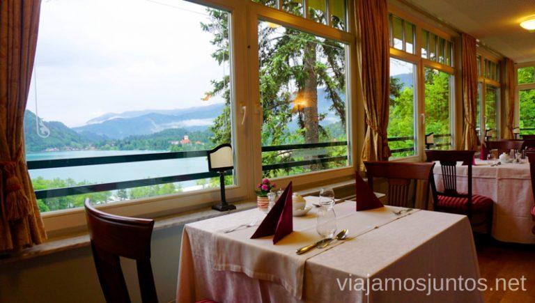 Restaurante del hotel Triglav Bled. Alojarse en el Hotel Triglav Bled Eslovenia #EsloveniaJuntos