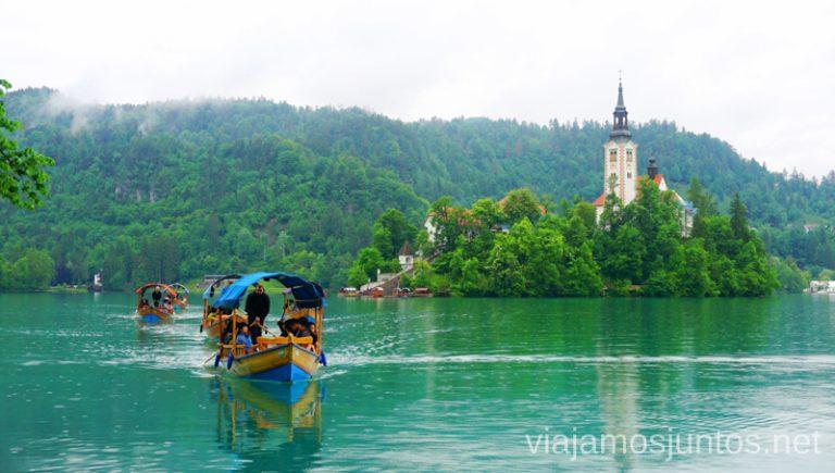 Paseo en barco por lago Bled hasta la isla. Qué ver y hacer en Eslovenia Campervan en Eslovenia Lago Bled #EsloveniaJuntos