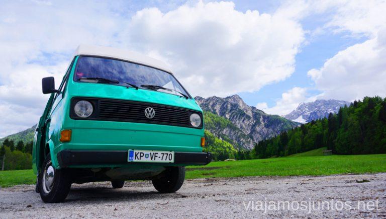 Siesta con vistas en campervan en Eslovenia. Alquilar Campervan en Eslovenia Consejos y datos prácticos #EsloveniaJuntos