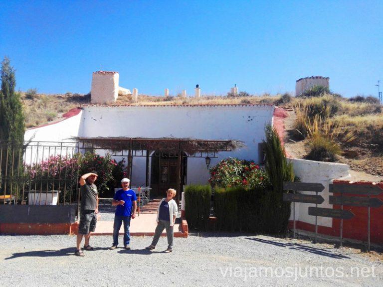 Casas-cueva en Guadix. Alojamiento en Granada