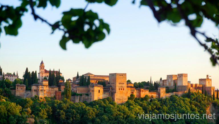 Granada al atardecer. Qué ver y hacer en Granada en verano Andalucía