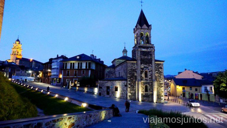 Ponferrada nocturna. Camino de Santiago entre León y Ponferrada