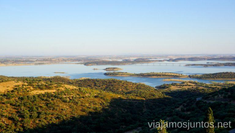 Vistas desde Monsaraz. Qué ver y hacer en el lago Alqueva #Experiencias_Alqeuva Extremadura Portugal