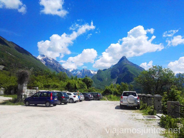 Parking con vistas en Bovec. Qué ver y hacer en Valle de Soča Eslovenia #EsloveniaJuntos