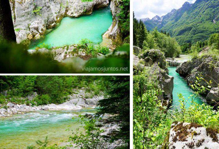 Velika Korita, río Soca. Qué ver y hacer en Valle de Soca Eslovenia #EsloveniaJuntos