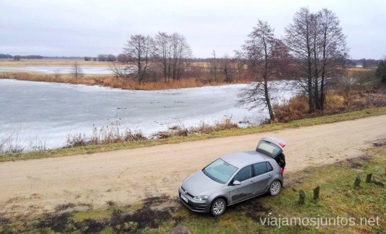 Mirador Rusne Observation Desk. Viajar a Países Bálticos en invierno. Lituania