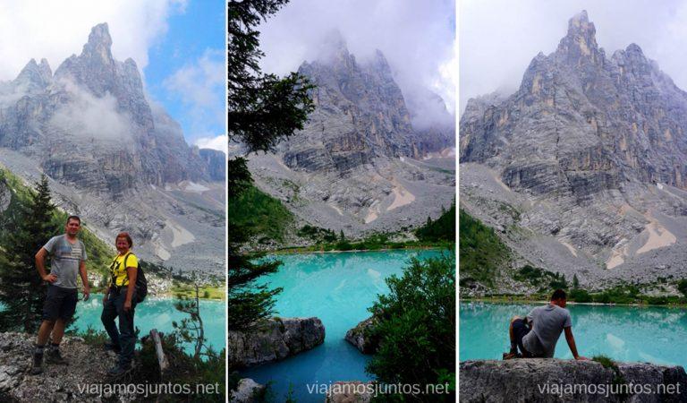¡Llegamos al meta! Mil fotos con el pico Dedo de Dios. Italia #ItaliaJuntos Los Dolomitas Italy ruta de senderismo