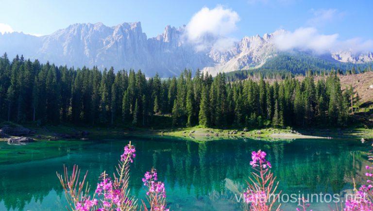 Una de las primeras paradas en nuestra ruta por los Dolomitas - lago di Carezza. Italia 8 días #ItaliaJuntos Los Dolomitas Italy montanas mountains