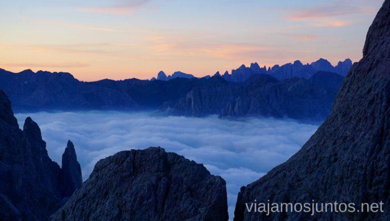 Amanecer desde los alrededores del refugio Re Alberti I. Italia #ItaliaJuntos Los Dolomitas