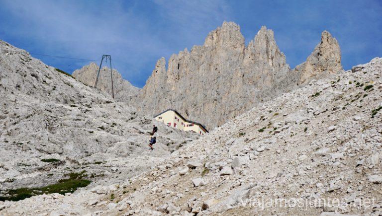 Último empujón hasta el refugio Re Alberto I. Italia #ItaliaJuntos Los Dolomitas