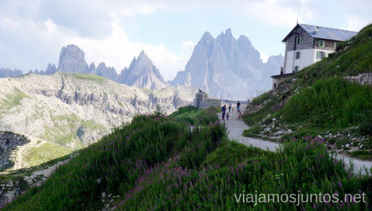 Refugio Auronzo. Italia #ItaliaJuntos Los Dolomitas Tre Cime di Lavaredo Ruta de senderismo