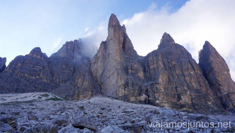 Las Tres Cimas. Vista de atrás. Italia #ItaliaJuntos Los Dolomitas Tre Cime di Lavaredo Ruta de senderismo