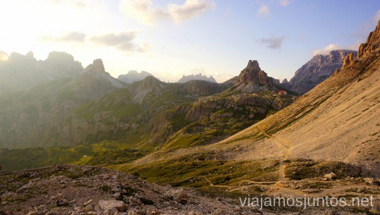 Camino hacia el refugio A. Locatelli. Italia #ItaliaJuntos Los Dolomitas Tre Cime di Lavaredo Ruta de senderismo