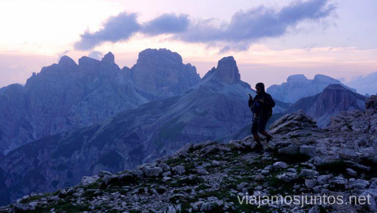 Atardecer en las Tres Cimas de Lavaredo. Italia #ItaliaJuntos Los Dolomitas Tre Cime di Lavaredo Ruta de senderismo