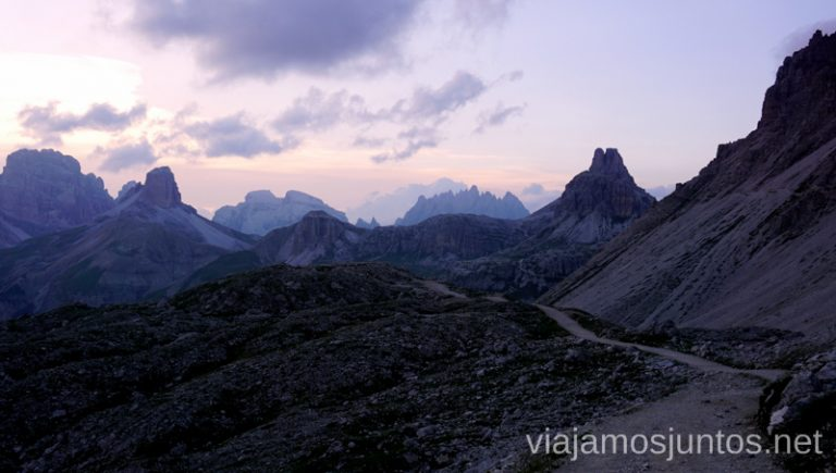 La vuelta. Italia #ItaliaJuntos Los Dolomitas Tre Cime di Lavaredo Ruta de senderismo