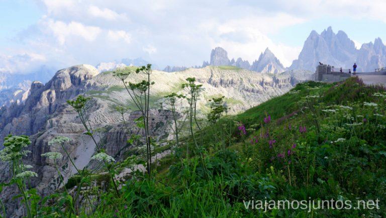 Comienzo de las rutas en las Tre Cime di Lavaredo desde el refugio Auronzo. Italia #ItaliaJuntos Los Dolomitas Ruta de senderismo