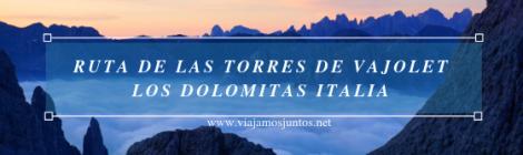 Las Torres de Vajolet, Los Dolomitas, norte de Italia.