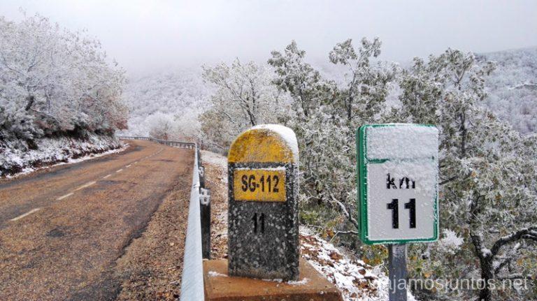 Hayedo de la Pedrosa por carretera SG-112.