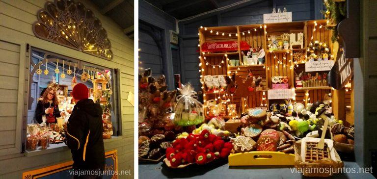 Mercadillo de Navidad en Kleipeda. Viajar a Países Bálticos en invierno.