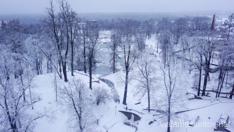 Alrededores de Cesis: Parque Nacional de Gauja. Viajar a Países Bálticos en invierno.