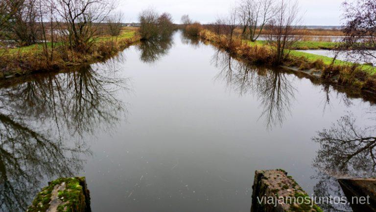 Aguas del Parque Regional del Nemunas. Qué ver y hacer en el Parque Regional Delta del Nemunas Países Bálticos en invierno.
