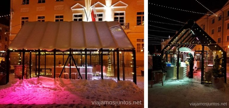 La plaza del Ayuntamiento de Tartu. Viajar a Países Bálticos en invierno.