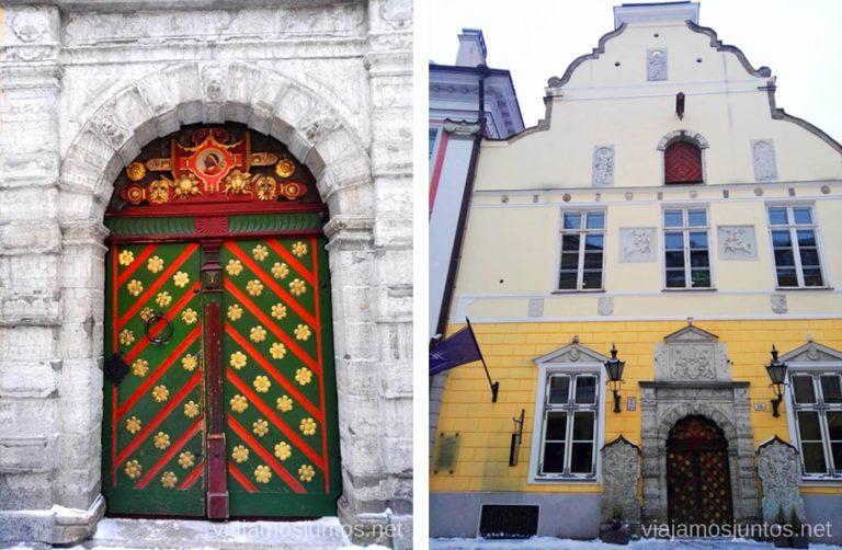 Gremio de los Cabezas Negras, Tallin. Viajar a Países Bálticos en invierno.