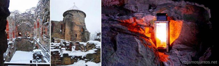 Castillo Viejo de Cesis. Viajar a Países Bálticos en invierno.