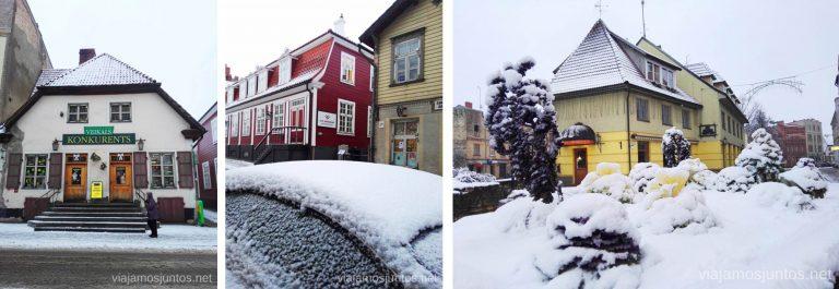 Calles de Cesis, Letonia. Viajar a Países Bálticos en invierno.