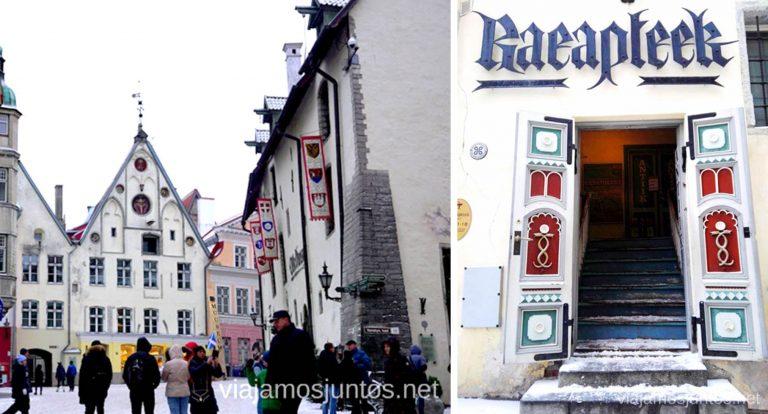 Una de mis cosas favoritas qué ver en Tallin: la Farmacia del Ayntamiento. Viajar a Países Bálticos en invierno.