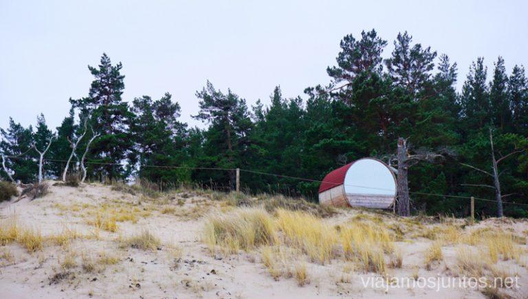 Alojamiento en la playa. Viajar a Países Bálticos en invierno.
