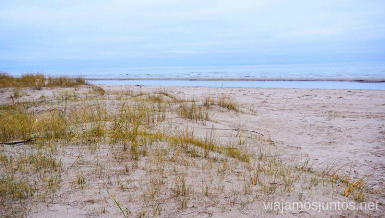 Playas del Cabo de Kolka. Viajar a Países Bálticos en invierno.