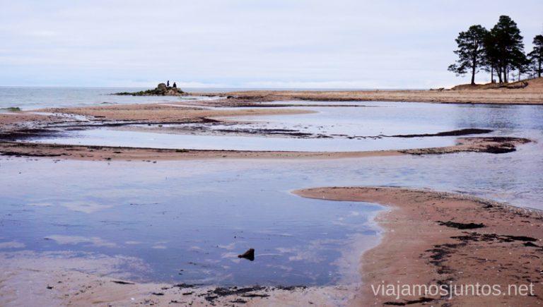 Cabo de Kolka después de las lluvias. Viajar a Países Bálticos en invierno.