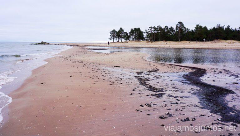 Cabo de Kolka. Viajar a Países Bálticos en invierno.