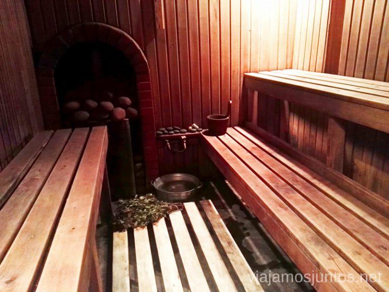 Alojamiento en Kurzeme: apartamento con sauna tradicional. Viajar a Países Bálticos en invierno.
