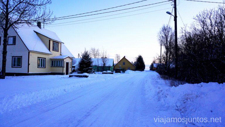 Pueblos con minoría rusa. Viajar a Países Bálticos en invierno.