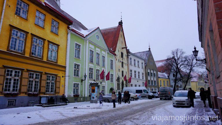 Qué ver en Tallin: calles. Viajar a Países Bálticos en invierno.