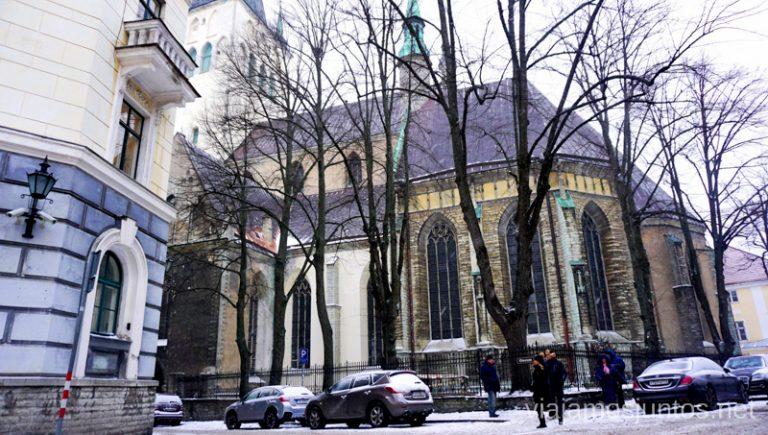 Iglesia de San Olav, Tallin. Viajar a Países Bálticos en invierno.
