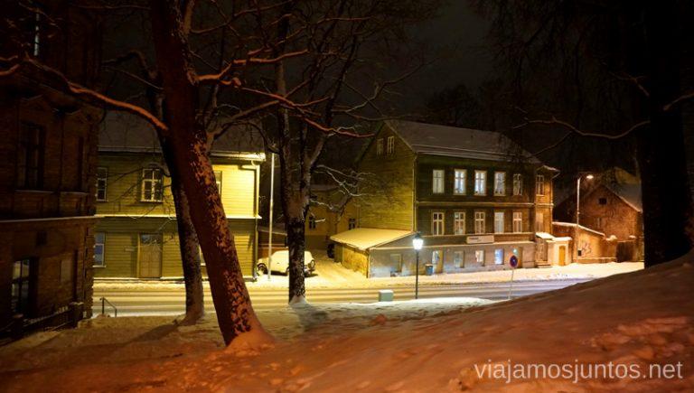 Desde Toomemagi, la colina de la Catedral. Viajar a Países Bálticos en invierno.