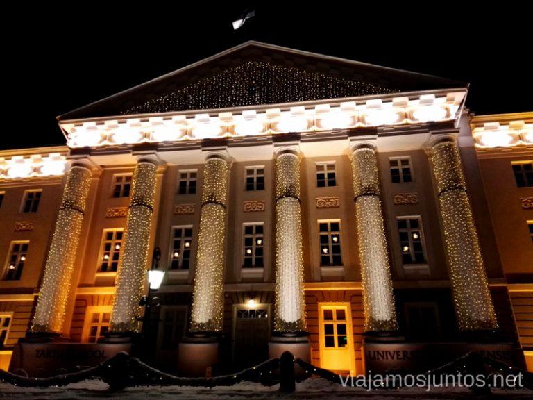Universidad de Tartu, Estonia. Viajar a Países Bálticos en invierno.