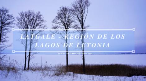 Latgale - región de los lagos de Letonia, Países Bálticos en invierno.