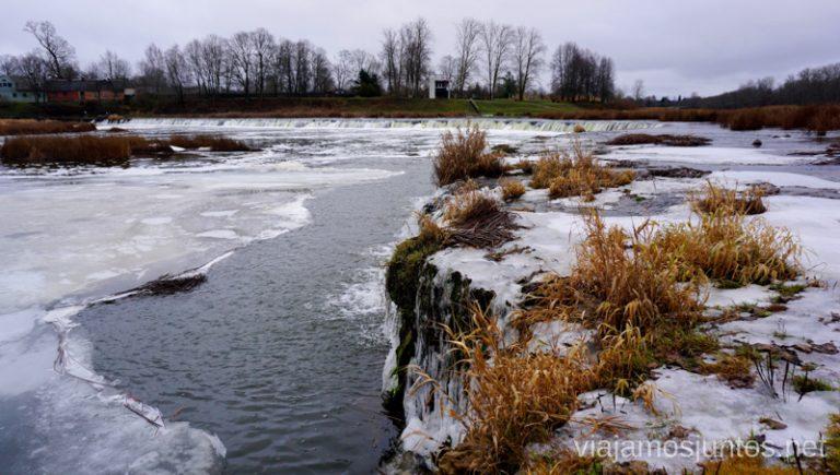 La cascada más ancha de Europa - Ventas Rambla. Viajar a Países Bálticos en invierno. Letonia